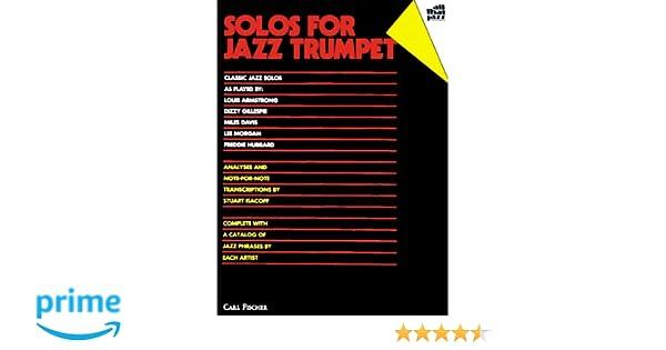 Amazon com: Solos for Jazz Trumpet: Classic Jazz Solos