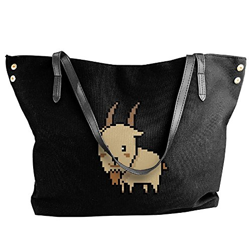 Women's Tote Handbags Handbag Pixel Art Black Large Goat Canvas Shoulder Sqrx7Sgw
