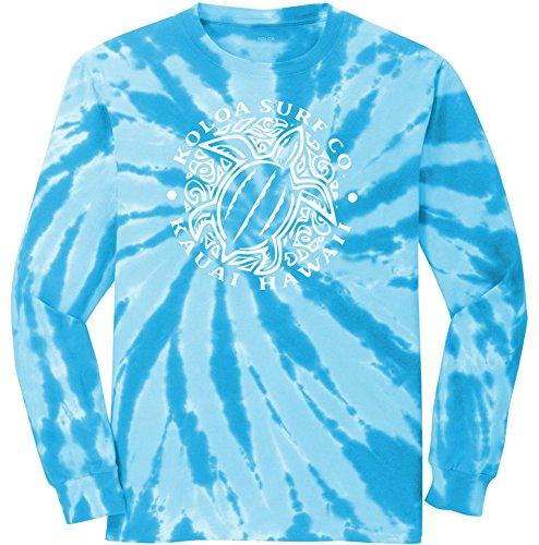 Koloa Surf Hawaiian Honu Turtle Logo-S-Turquoise-Tiedye/w