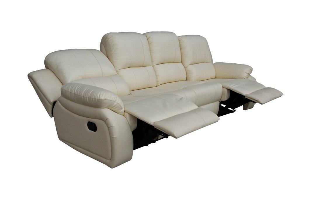 Voll-Leder Sofa Garnitur Relaxsessel Polstermöbel Fernsehsessel 5129-4-89