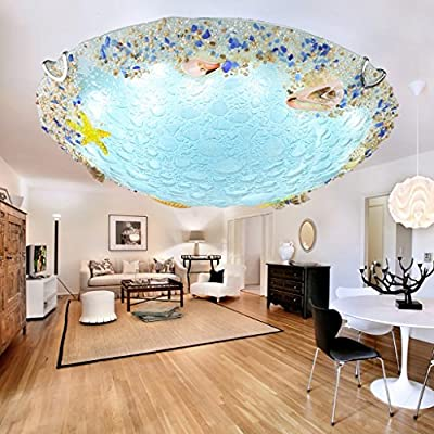 YXGH- Shell Mediterranean Ceiling Lamps Dining Room Bedroom Balcony Entrance Hall Children's Room Creative LED Lamps Children's Ceiling lamp
