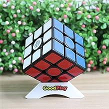 GoodPlay Gans III Gan357 Ganspuzzle 3x3 Speed Cube Puzzle GAN 357 Intelligence Brain Teaser Twist Puzzle Black + One Cube Tripod