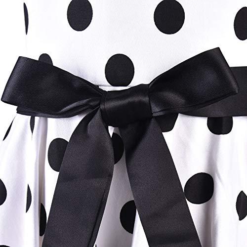 Vintage Girls White Dresses Polka Dot Swing Rockabilly