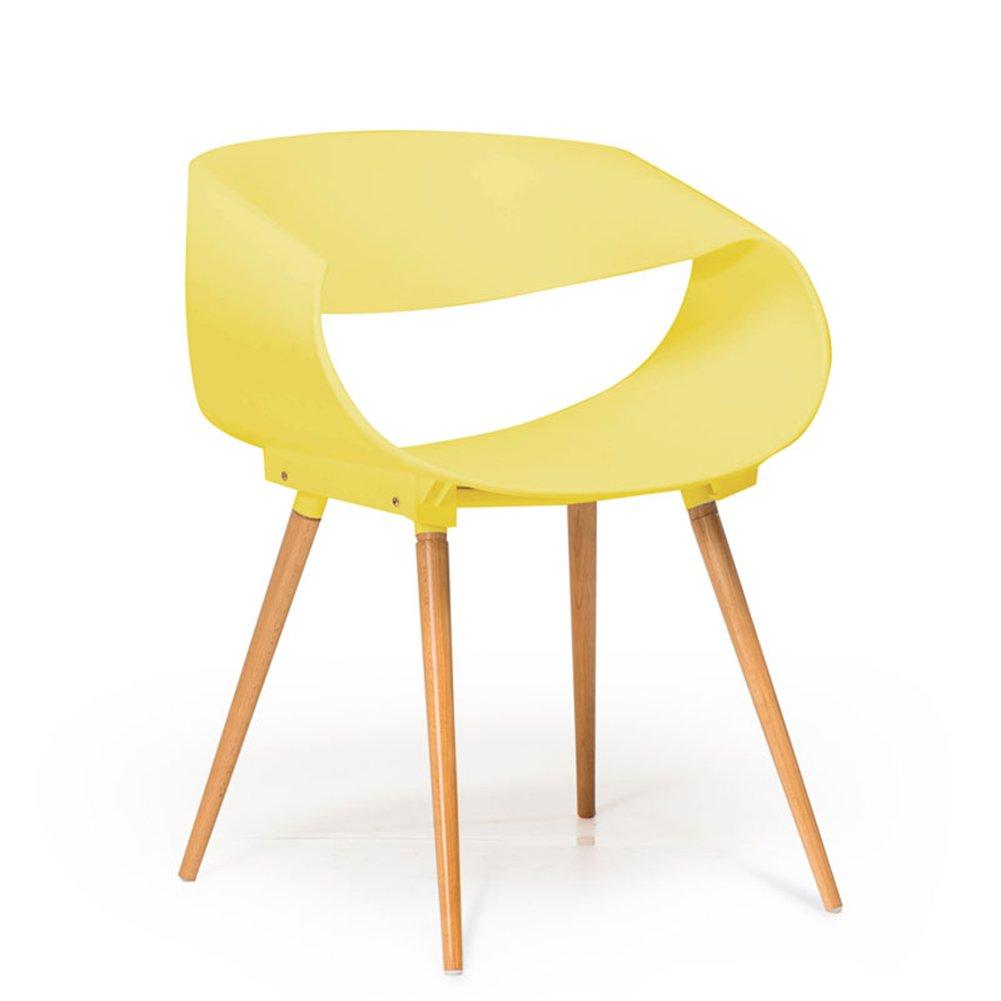 ZEMIN ダイニングチェア椅子の木の木製折り畳み 椅子ソファシートスツールテーブルバックレストアームレストポータブル便利なソリッドウッドレッグ、3色、62x51.5x75CM ( 色 : イエロー いえろ゜ ) B078RNC4M6 イエロー いえろ゜ イエロー いえろ゜