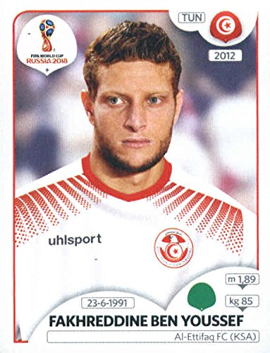 2018 Panini FIFA World Cup Stickers #567 Fakhreddine Ben Youssef Tunisia