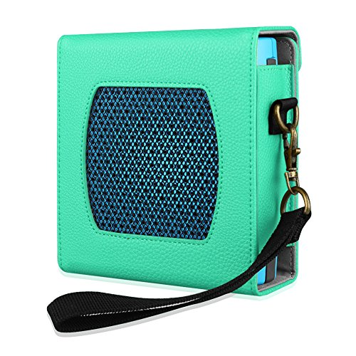 Fintie Bose SoundLink Color Bluetooth Speaker Case - Premium Vegan Leather Protective Bumper Cover Sleeve with Removable Holding Strap for Bose Soundlink Color Bluetooth Wireless Speaker, Mint Green