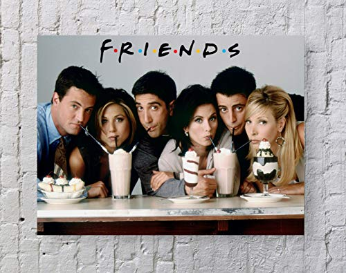 - LLp Friends Poster Standard Size | 18-Inches by 24-Inches | Friends Milkshake Wall Poster Print