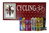RUNNING ON THE WALL-Bicycling Gifts-Medal Display Rack-Medal Holder for biking Athlete-''CYCLING''