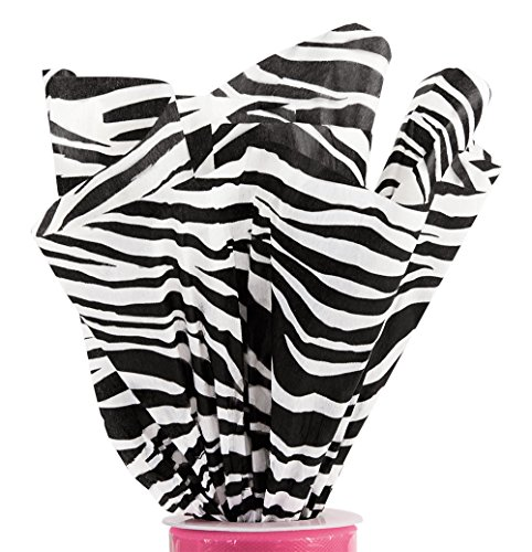 Boutique 20 x 30 inch Zebra Tissue Paper - 120 Sheets by SSW Basics LLC