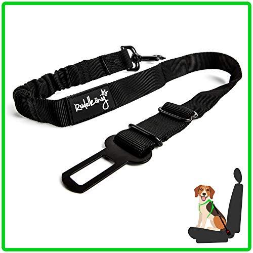 Rudelkönig Hundesicherheitsgurt fürs Auto - elastischer Anschnallgurt - stufenlos einstellbar - für alle Hunderassen & Autotypen