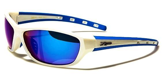 X-Loop Lunettes de Soleil - Sport - Cyclisme - Ski - Vtt - Running - Moto - Tennis / Mod. Cobalt Blanc Jaune vfRXi