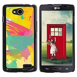 For LG OPTIMUS L90 / D415 Case , Painting Paint Brush Artist Abstract - Diseño Patrón Teléfono Caso Cubierta Case Bumper Duro Protección Case Cover Funda