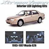 XtremeVision Mazda 626 1993-1997 (10 Pieces) Cool White Premium Interior LED Kit Package + Installation Tool