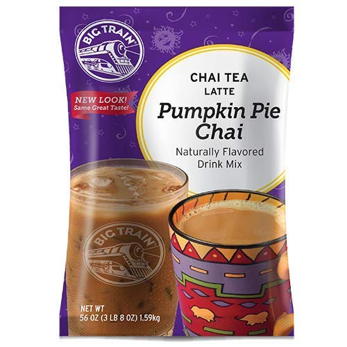 Big Train Chai Tea Latte, Pumpkin Pie, 3.5 Pound, Powdered Instant Chai Tea Latte Mix, Spiced Black Tea with Milk, For Home, Café, Coffee Shop, Restaurant Use