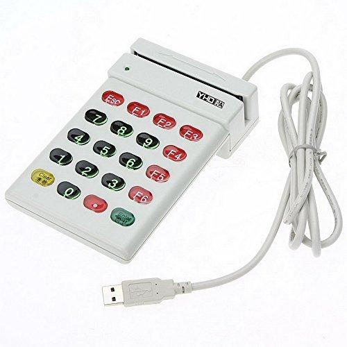 USB Magnetic Stripe Card Reader Writer Encoder Credit Card w/Numeric Keypad