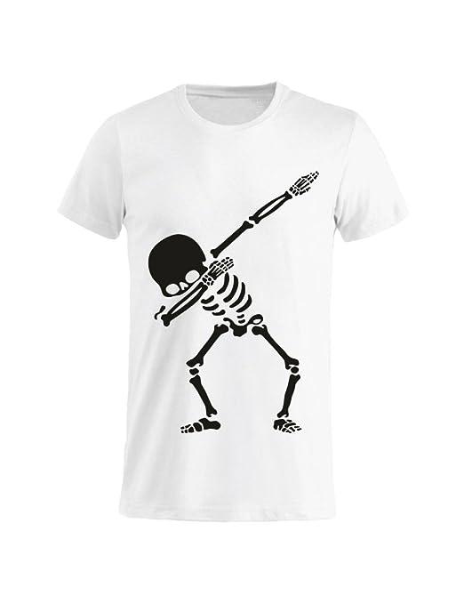 Tuttoinunclick Camiseta Hombre Mujer Niño – Calavera Dab gr256 ...