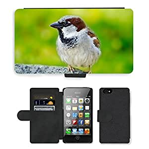 PU LEATHER case coque housse smartphone Flip bag Cover protection // M00113496 Pájaro verde Animales Aviator Salvaje // Apple iPhone 4 4S 4G