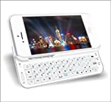 Tsirtech® White Slide-out Wireless Bluetooth Keyboard Case Cover For iPhone 5