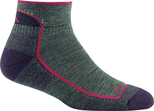 Darn Tough Women's Merino Wool Hiker 1/4 Sock Cushion - 6 Pack Special, Moss Heather, Large
