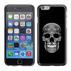 Planetar® ( Music Skull Death Metal Dark Art Black ) Apple iPhone 6 / 6S (4.7 inches!!!) Fundas Cover Cubre Hard Case Cover