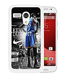 New Unique Custom Designed Case With Oklahoma City Thunder Kevin Durant 3 White For Motorola Moto G Phone Case