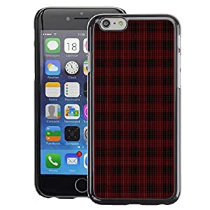 A-type Arte & diseño plástico duro Fundas Cover Cubre Hard Case Cover para iPhone 6 (Emo Dark Goth Pattern Black Red)
