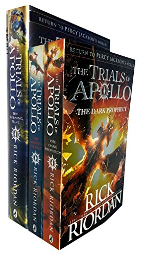 Rick Riordan Trials Of Apollo Collection 3 Books Set  Dark Prophecy  Hidden Oracle  Burning Maze  Hardcover