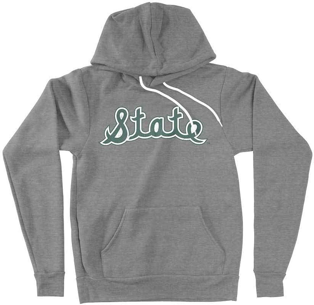 Elite Fan Shop Michigan State Spartans Retro Hooded Sweatshirt Green