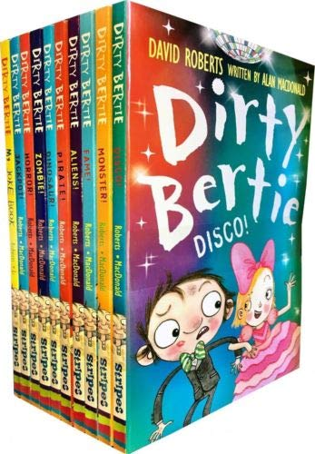 (Dirty Bertie - Series 3 - David Roberts 7 Books Collection Set (Jackpot, Horror, My Book of Stuff, Dinosaur, My Joke Book, Zombie, Pirate) by David Roberts)