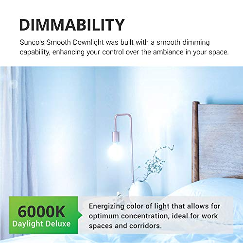 Sunco Lighting 6 Pack G25 LED Globe, 6W=40W, Dimmable, 450 LM, 6000K Daylight Deluxe, E26 Base, Ideal for Bathroom Vanity or Mirror - UL & Energy Star