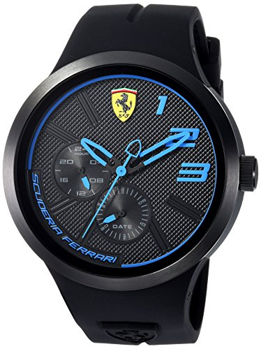 Scuderia Ferrari Men's 'FXX' Quartz Resin and Silicone Casual Watch, Color:Black (Model: 0830395)