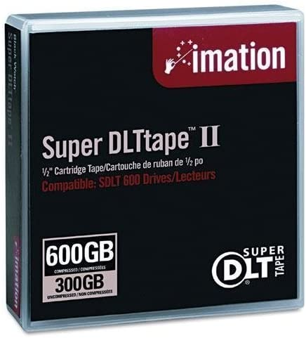 300GB Native//600GB Comp Cap 2066ft Imation 16988 1//2 Super DLT II Cartridge