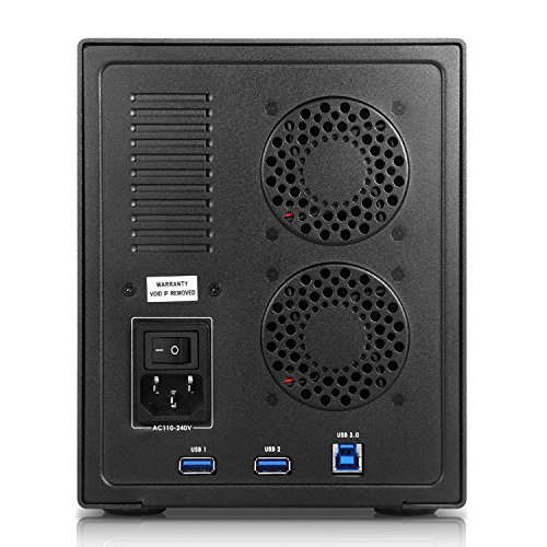 SISUN Tool Free Aluminum USB 3.0 5 bay 3.5 inch SATA Hard Drive Enclosure Support 5x 8TB Drive (USB 3.0 / 5 Bay Hard Drive Enclosure-Black) by Sisun (Image #2)