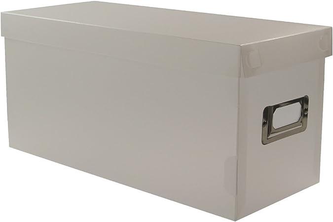 Boite Rangement Box Range Cd Dvd Trieur Courrier Fiches Papier Blanc Amazon Fr Cuisine Maison