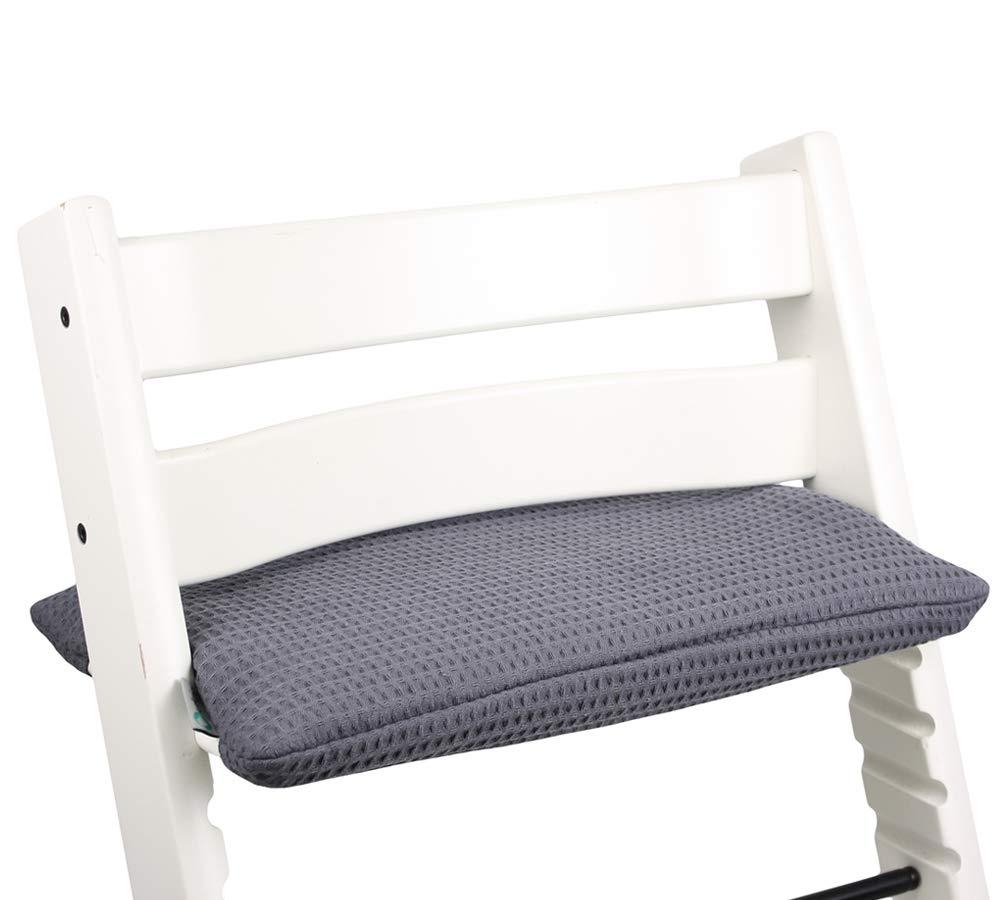 Sitzkissen Sitzverkleinerer Kissen von UKJE f/ür Stokke Tripp Trapp Beschichtet Praktisch und dick gepolstert Grau Waffelpiqu/é Maschinenwaschbar 1-teilig /Öko-Tex Baumwolle