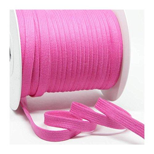 pink Flachkordel Baumwollkordel 1m 100/%Baumwolle 10mm col.035
