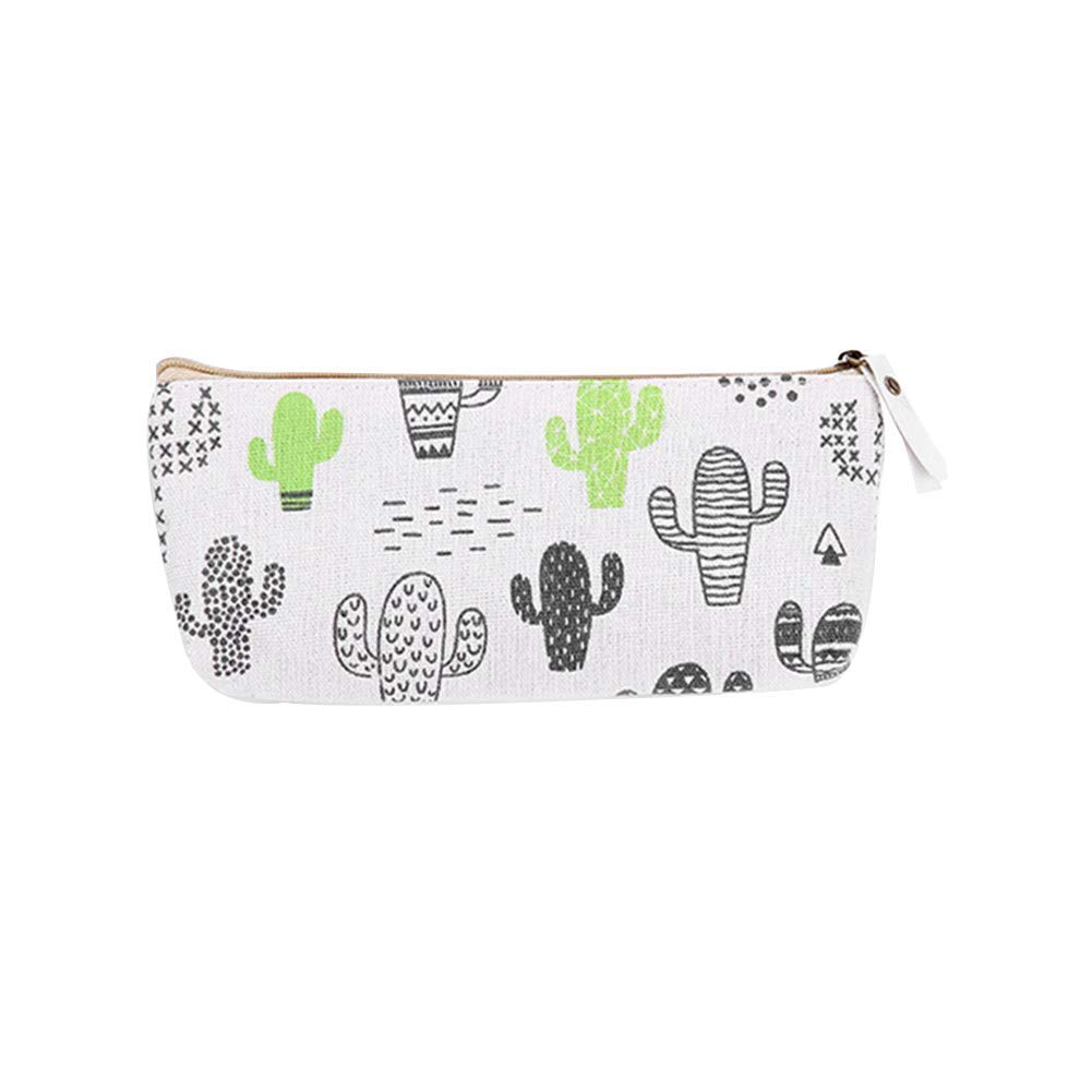 Yevison Premium Quality Cute Plant Pencil Case Portable Pen Case Stationery Creative Canvas Pencil Bag Primary and Secondary School Pencil Bag