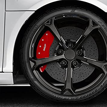 Amazon Com Upgrade Your Auto Set Of 4 Front And Rear Red Mgp Caliper Covers For Bmw 335xi 2007 2008 Fits Excludes 189 Wheel Automotive