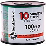 Southwire Company 100 ft. Stranded Building Wire with THHN Wire Type and 10 AWG Wire Size, Green - 1 Each