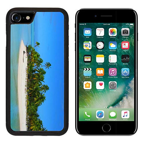 Luxlady Apple iPhone 8 Case Aluminum Backplate Bumper Snap iPhone8 Cases Beautiful Beach in One Foot Island Aitutaki Cook Islands Image ID 4293654