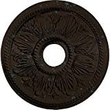 Ekena Millwork CM18ED1BBS Edinburgh Ceiling Medallion, Bronze Blue Patina