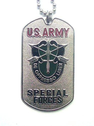 - Karelia Military Dog Tags with Picture Stainless Embossed Army Pendants Necklace U.S. Army (U.S. Army Special Forces)