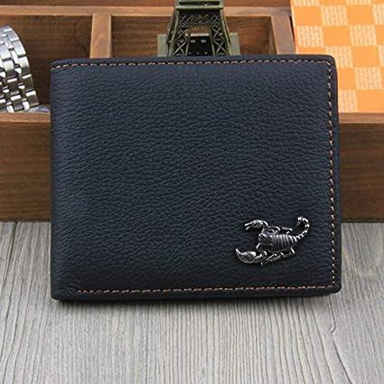 019b5f94b5da Amazon.com: Scorpion Men Wallets Genuine Leather Wallet Design with ...