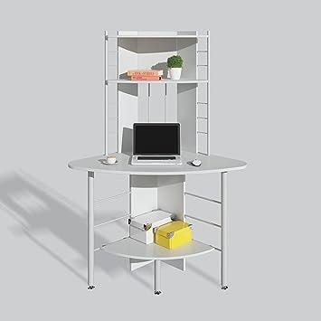 MS Tables - Mesa de Esquina para Ordenador, estantería, Escritorio ...