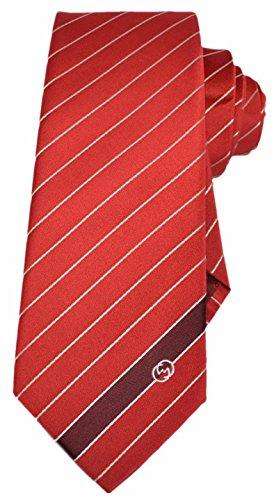 Gucci Men's Flame Red Woven Silk Interlocking GG Striped Neck Tie (Gucci Woven Tie)