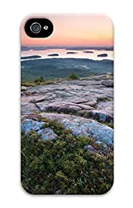 Sharp Image Painting Sunrise At Otter Cliffs 3D Custom Hard Back Case Protector For Apple Iphone 5/5S Case Cover (529 Painting) -60606