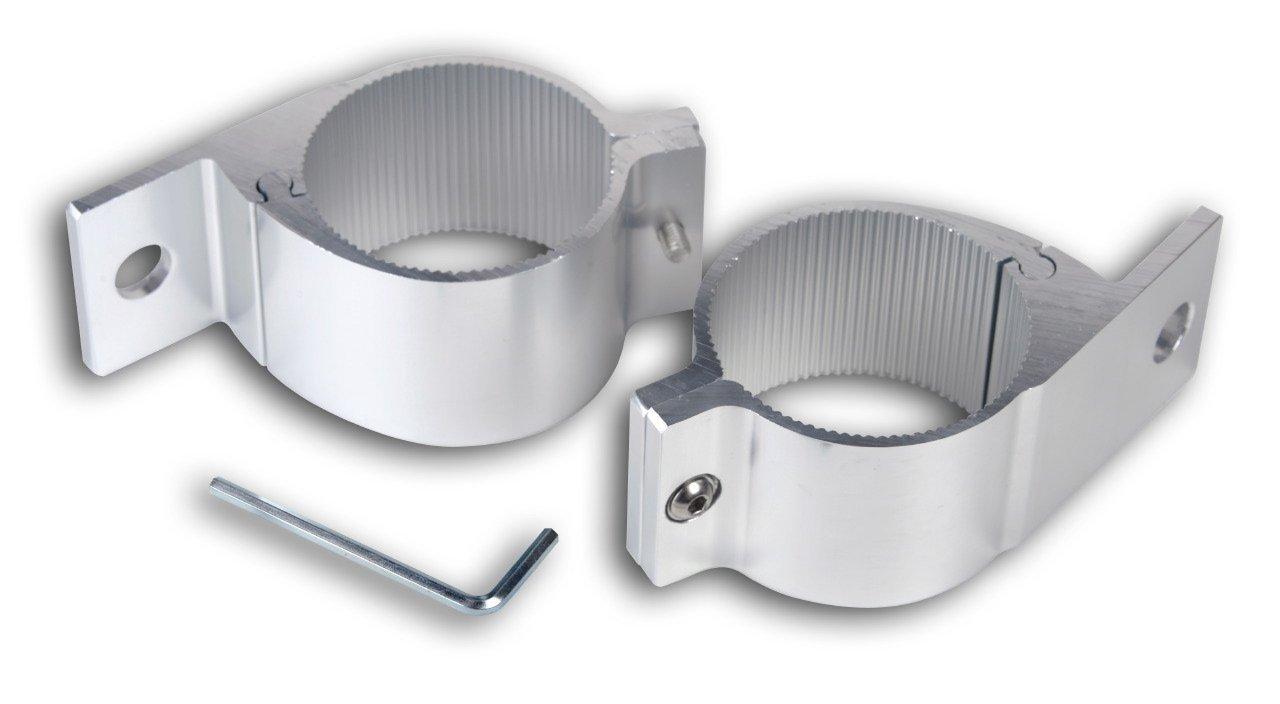 2x Rohrschelle fü r Scheinwerfer fü r Rohrdurchmesser von 75 bis 78mm. Hansen Styling Parts