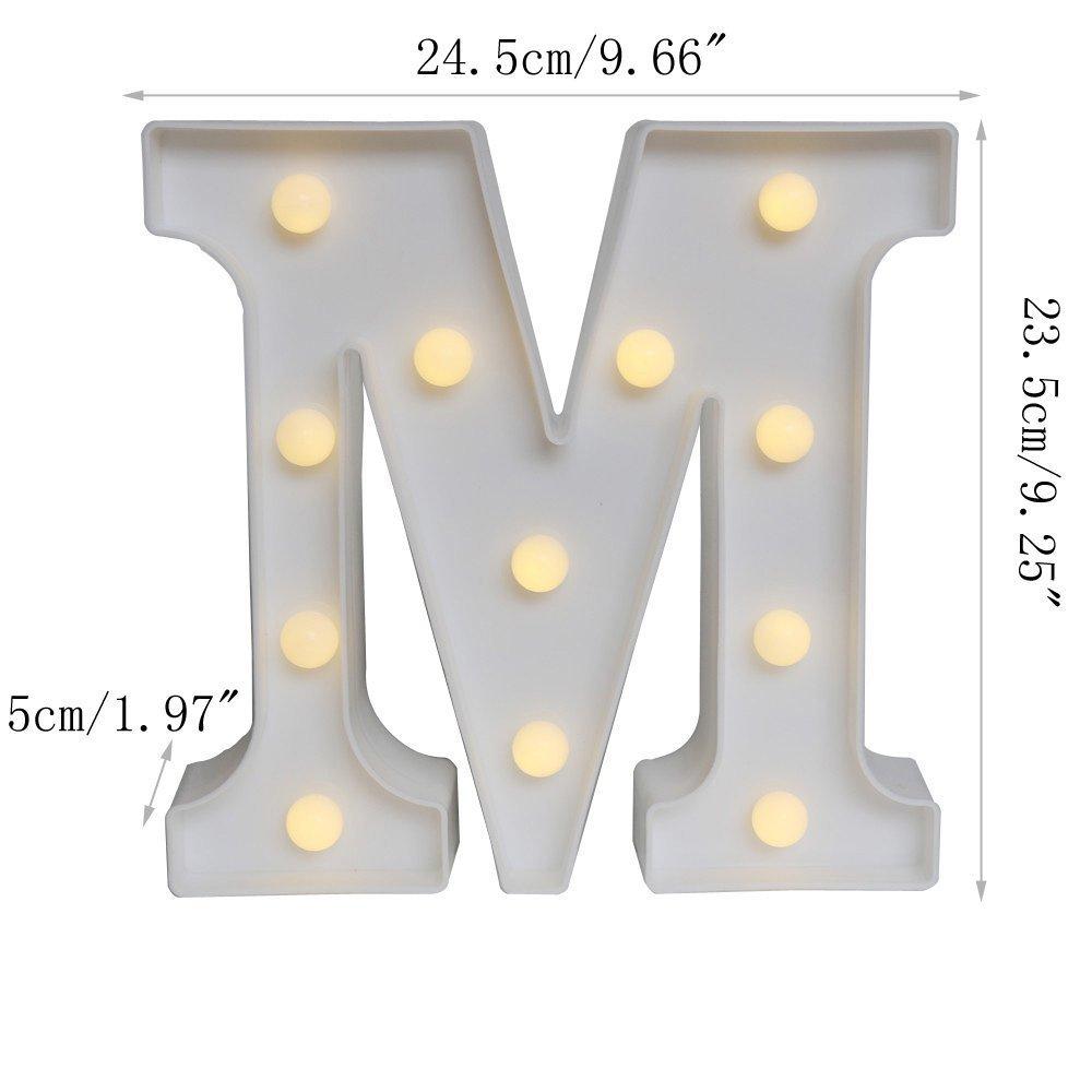 feste di nozze Scritta decorativa con luci LED come decorazione da appendere al muro V bar camera da letto utilizzabile per compleanni