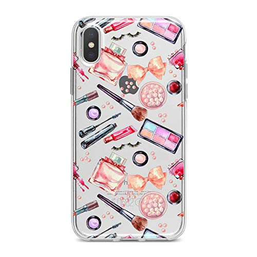 Lex Altern TPU Case for iPhone Apple Xs Max Xr 10 X 8+ 7 6s 6 SE 5s 5 Flexible Print Makeup Perfume Cute Lipstick Smooth Cover Clear Phone Girl Slim fit Beauty Soft Lightweight Design Gift Colorful]()