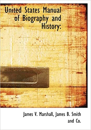 Book United States Manual of Biography and History